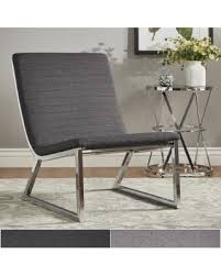 grey linen chair shopping s deal on ululani grey linen chrome metal