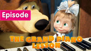 masha bear grand piano lesson episode 19 video