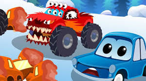 monster truck cartoon videos zeek u0026 friends hungry monster truck nursery rhyme songs baby