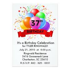 37th birthday invitations u0026 announcements zazzle