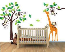 Giraffe Wall Decals For Nursery Wall Ideas Design Monkey Animals Nursery Wall Decals