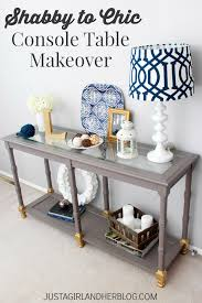 Painted Console Table Shabby To Chic Console Table Makeover Just A And