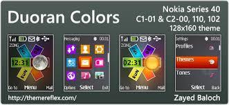 nokia 2690 black themes duoran colors live theme for nokia 110 112 c1 01 2690 128 160