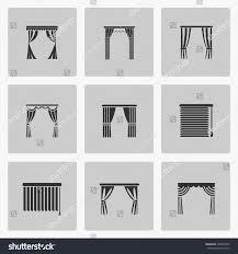 window blinds jalousie symbol window draperies stock vector