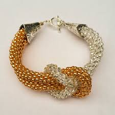 gold love knot bracelet images Beaded kumihimo love knot jpg