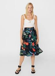 midi skirt floral midi skirt woman mango united kingdom