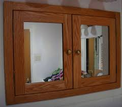 recessed wood medicine cabinet recessed wood medicine cabinet modern double door with mirror or