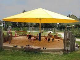 patio oversized patio umbrellas yellow octagon modern fabric