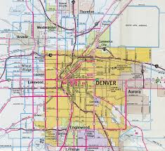 Map Denver Colorado by Interstate Guide Interstate 270