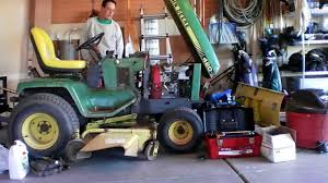 john deere 420 with a honda gx670 repower youtube