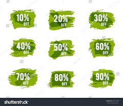 christmas sale tags green ecology sale stock vector 338419487