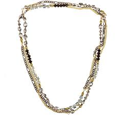 necklace beaded crystal images Glass crystal beaded necklaces beads and dangles jpg