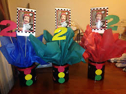 Construction Themed Centerpieces by Cars Theme Center Pieces Cars Centerpieces Ideas Pinterest