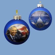 pack of 6 president barack obama glass ornaments
