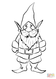 gnome coloring page free printable coloring pages