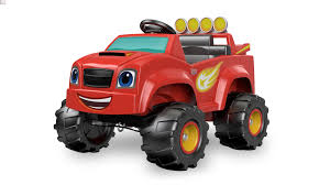 real monster truck videos power wheels boys u0027 nickelodeon blaze monster truck 6v battery