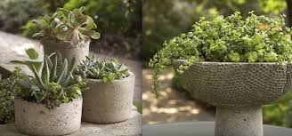 how to make your own unique cement planters using old rags and