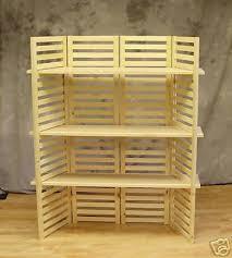display wood selfs for crafts booths display shelf portable