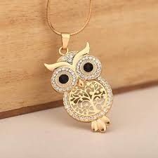 owl vintage necklace images Vintage jewelry owl pendant necklace women tree of life snake jpg