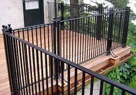 aluminum deck railing black color u2013 outdoor decorations