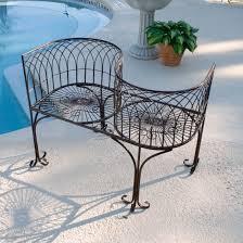 Tete A Tete Garden Furniture by Garden Bench Metal Kissing Tete A Tete Conversation Seat Outdoor
