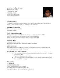 Resume Sample In The Philippines Esl Resume Sle 28 Images Assistant Golf Coach Resume Sales
