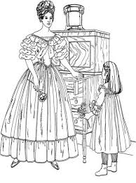 beautiful victorian woman detailed coloring pages hard fashion