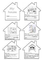 worksheet rooms in the house mini book