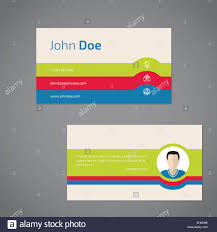 two sided business card design with personal photo stock photo