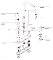 kitchen faucet repair moen moen ca87060srs parts list and diagram ereplacementparts