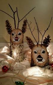 log reindeer image result for how to make wooden reindeer out of logs snowman
