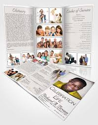 tri fold program funeral programs professional editable templates funeralparlour
