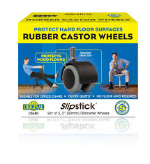 Wooden Office Chairs With Casters Slipstick Rubber Castor Wheels Cb680 Slipstick Foot