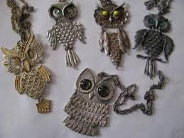 vintage owl necklace jewelry images Vintage retro jewelry jpg