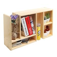 Desk Organizers Wood by Amazon Com Beige Wood Adjustable Desktop Organizer Book Shelf