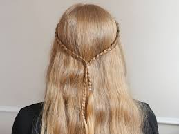 small hair easy hairstyle with two small braids 5 steps with pictures