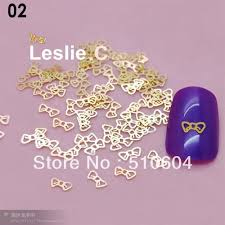 one packs designs bow butterfly metal gold sticker 3d nail