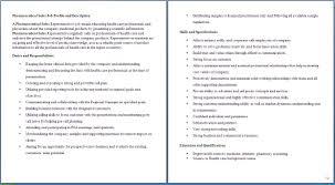 sample pharmaceutical sales resume pharmacy technician job description for resume free resume duties of a pharmacy technician duties of a pharmacy technician