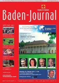Dr Martin Baden Baden Baden Journal Ausgabe September Oktober 2011 By Michael Migge