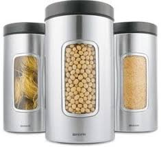 kitchen canisters stainless steel brushed steel canister set with a peep in window hometone home