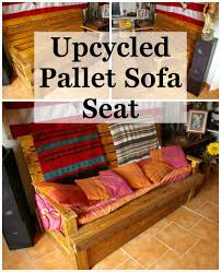Seating Out Of Pallets by Upcycled Pallet Sofa Seat 101 Pallet Ideas
