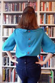 button blouses tilly and the buttons teal button back blouse