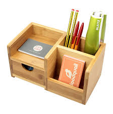 desk organiser pen holder and drawer desk tidy of 4 compartments