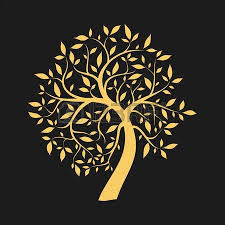 gold tree on black royalty free cliparts vectors and stock