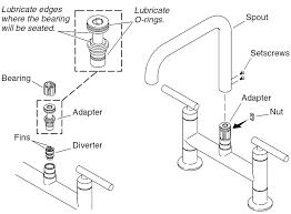 replacement kitchen faucet handles extraordinary bridge kitchen sink faucets diverter replacement