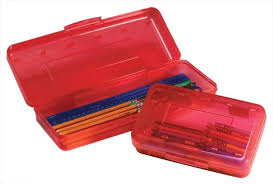 pencil box school smart plastic pencil box 8 2 5 x 5 3 8 x 2 1 2 inches