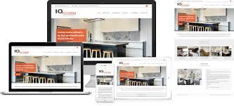 Kitchen Website Design Kas Furniture Iq Kitchens Website Design By Forge Online