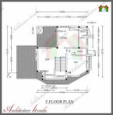 2800 Sq Ft House Plans Architecture Kerala 1800 Sq Ft House Plan With Detail Dimensions