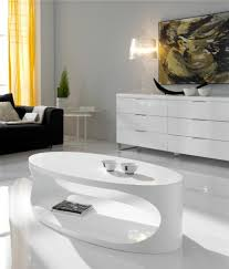 white gloss side table modern oval white high gloss coffee table