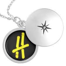 Monogram Locket Necklace Monogram H Necklaces U0026 Lockets Zazzle